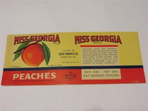 Miss Georgia can label